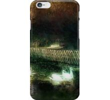 Swans on a river circa 1910 iPhone Case/Skin