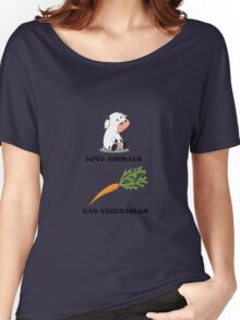 Love Animals Eat Vegetables Women's Relaxed Fit T-Shirt