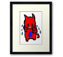 Sad Monster Framed Print