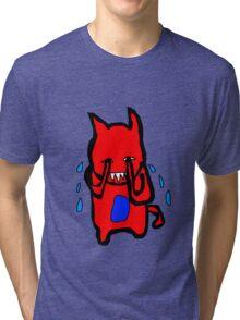 Sad Monster Tri-blend T-Shirt