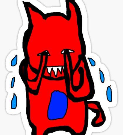 Sad Monster Sticker