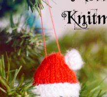Merry Knitmas Sticker