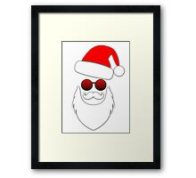 Cool Santa Face with Sunglasses Framed Print