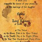 The Red Wedding Invitation - Game of Thrones by robotplunger