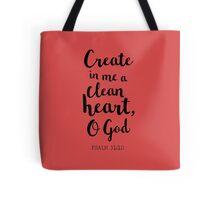 Psalm 51:10 Tote Bag