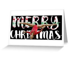 Gymnast - Merry Christmas Greeting Card