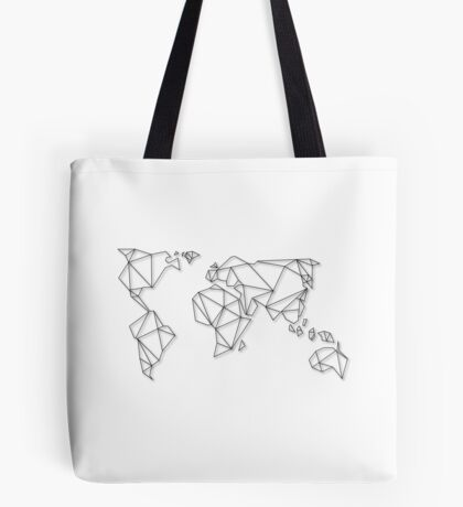 Geometric Map Tote Bag