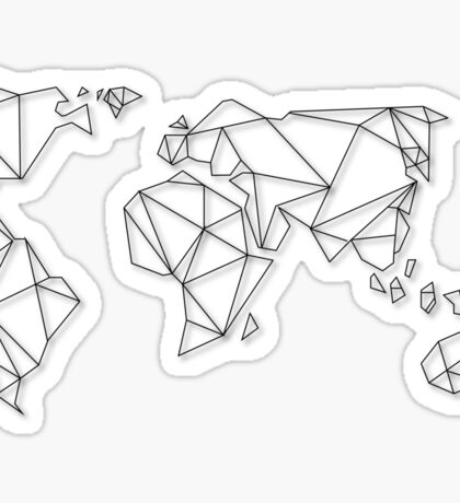 Geometric Map Sticker