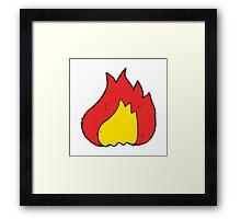 cartoon flame Framed Print