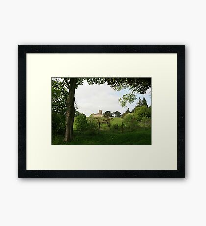 Rolling hills towards Downton Abbey Framed Print
