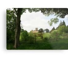 Rolling hills towards Downton Abbey Metal Print