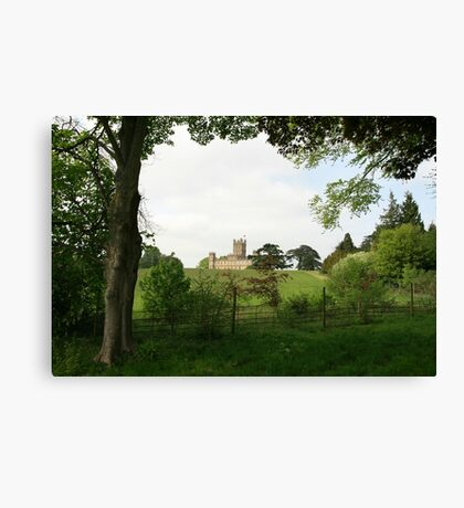 Rolling hills towards Downton Abbey Canvas Print