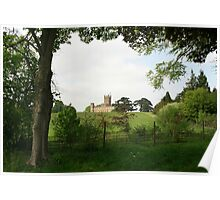 Rolling hills towards Downton Abbey Poster