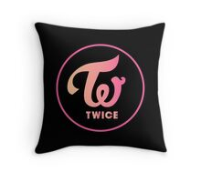 twice apricot neon magenta Throw Pillow