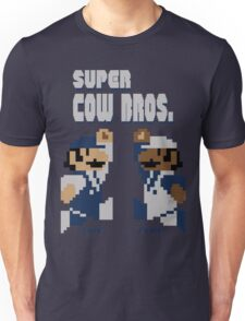 Super Cow Bros. (Blue/Silver) Unisex T-Shirt