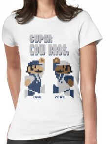 Super Cow Bros. (Blue/Silver) Womens Fitted T-Shirt