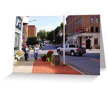 A city street scene Greeting Card