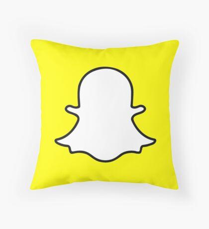 Snapchat Throw Pillow