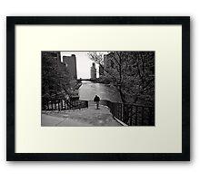 Running Man - Chicago Framed Print