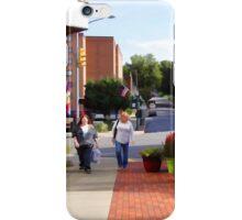 A city street scene iPhone Case/Skin