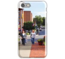 A city street scene iPhone Case/Skin