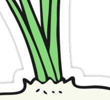 cartoon garlic bulb Sticker