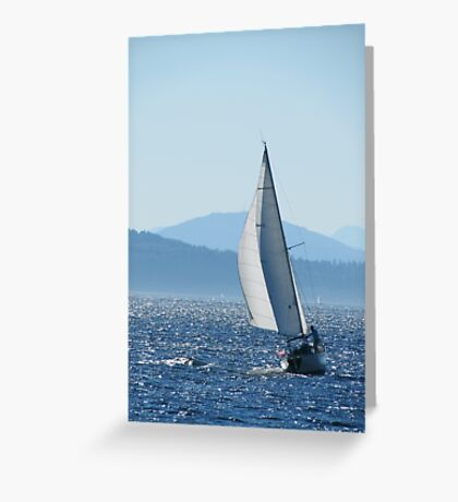 Sailboat on Puget Sound Greeting Card