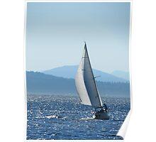 Sailboat on Puget Sound Poster