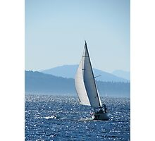 Sailboat on Puget Sound Photographic Print