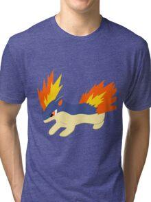 Quilava (pokemon) Tri-blend T-Shirt