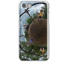 Siblings on a 6 Seater Swing iPhone Case/Skin