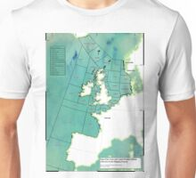 UK Shipping Forecast Map Unisex T-Shirt