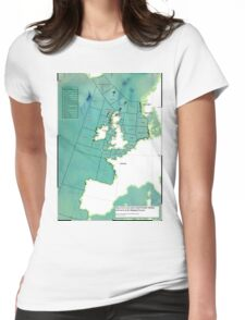 UK Shipping Forecast Map Womens Fitted T-Shirt
