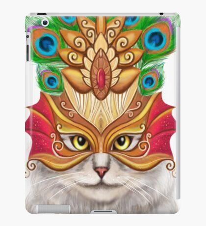 Creative portrait a cat in a mask iPad Case/Skin