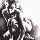 Quiescent I - charcoal and conté drawing by Paul Davenport