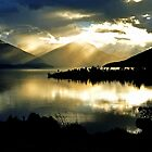 Lake Te Anau at sunset. South Island, New Zealand. (2) by Ralph de Zilva