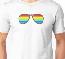 Glasses With Rainbow Lenses Unisex T-Shirt