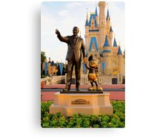 Walt Disney and Mickey Mouse  Canvas Print