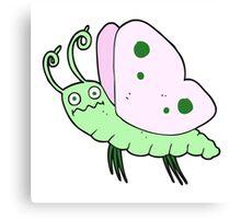 cartoon funny butterfly Canvas Print