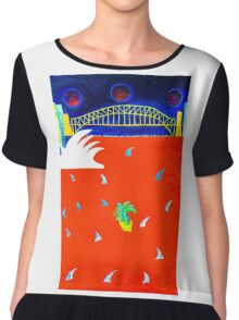 Sydney Harbour Shark Convention Chiffon Top