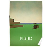 Minimal Minecraft Plains - with Text Poster
