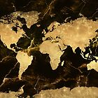 world map gold 7 by BekimART