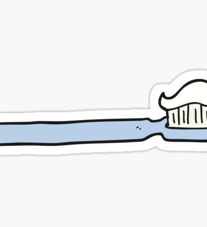 cartoon toothbrush Sticker