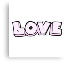 cartoon word love Canvas Print