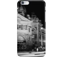 Streaking past Flinders Street Station - Melbourne Australia iPhone Case/Skin