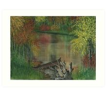 SERENE WATERS IN THE FALL Art Print