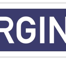 Virginia B Sticker