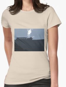 Snowdon Train Sillouette Womens Fitted T-Shirt