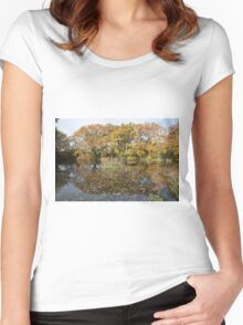 Autumn Colours in the sunshine  Women's Fitted Scoop T-Shirt