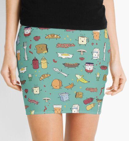 Breakfast is people too Mini Skirt